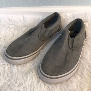 Circo by Target Size 2 Gray Canvas Slip On Shoes